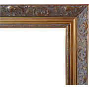 LARGE Vintage Gold Picture Wood Frame w/ Rococo Swirls for Painting or Print Gilt
