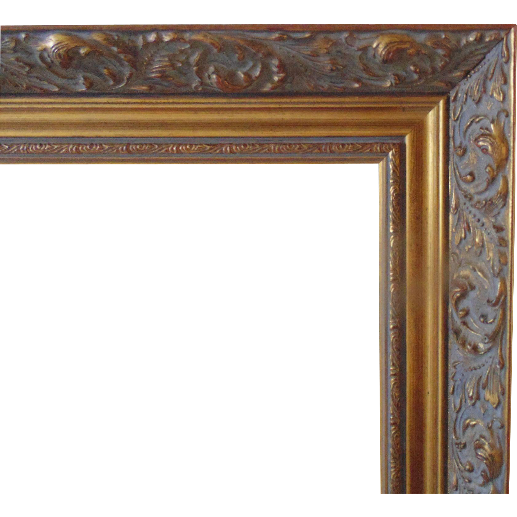 Large Vintage Gold Picture Wood Frame W Rococo Swirls For