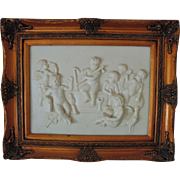 Large Vintage Cherub Plaque High Relief Frieze Putti