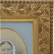19c Victorian Picture Frame Gilt Wood & Gesso Antique Eastlake Aesthetic Antique Gilded c. 1875