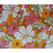 1 of 10 Yards Cotton Fabric Vintage Retro Flower Power Psychedelic Mid Century Modern Sewing 5th Avenue