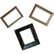 3 Vintage Miniature Wood Picture Frames for Paintings Photos Prints Photographs