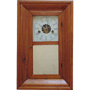 19c Antique William S. Johnson Ogee Clock Wood Case Chime Dial Movement Parts