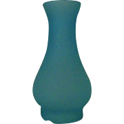 Vintage Blue Miniature Lamp Satin Glass Chimney Shade Oil Kerosene