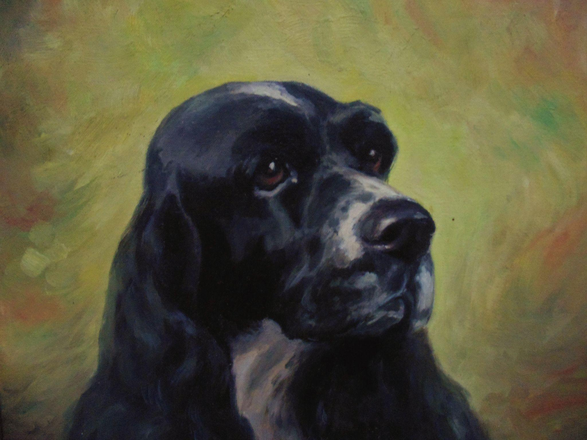 Image result for cocker spaniel painting