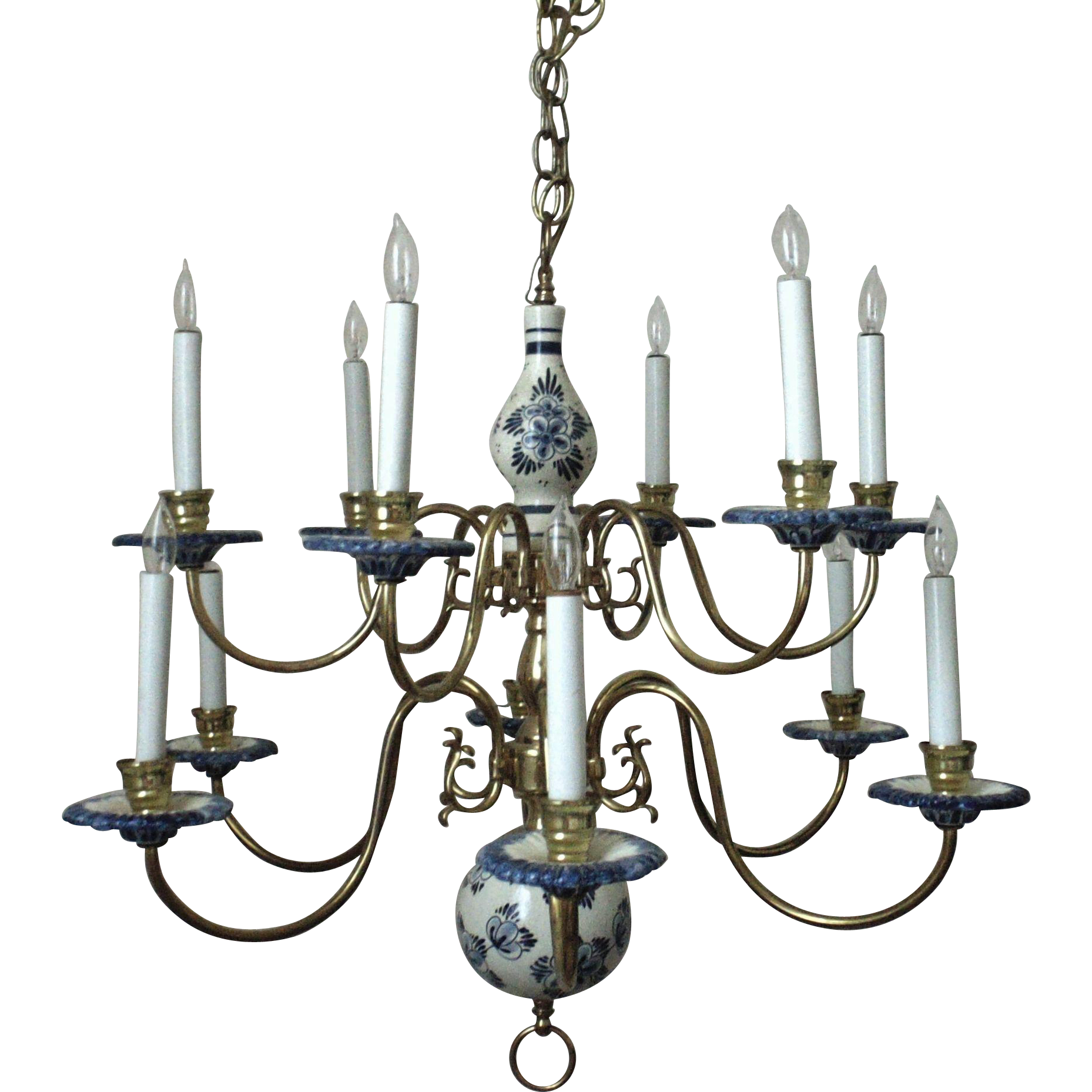 Blue delft chandelier chandelier gallery delft chandelier lighting belgium antique exporters mozeypictures Choice Image