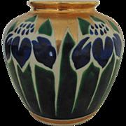 Antique Japanese Porcelain Vase Arts & Crafts Flowers Mission Bungalow Asian