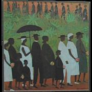 Ellis Wilson The Funeral Procession Print Black Americana African American Folk Art