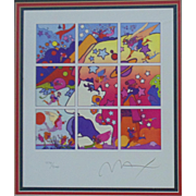 "Peter Max Serigraph ""Profile"" Signed & Numbered 479/500 Limited Edition Pop Art Retro Vintage Psychadelic"