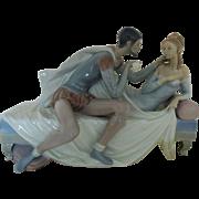 LARGE Lladro Othello & Desdemona c. 1971 Porcelain Figurine Figure Statue Sculpture Retired Limited Edition of 750 Spain Spanish
