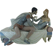 LARGE Lladro Othello & Desdemona c. 1971 Porcelain Figurine Figure Statue Sculpture Retired Limited Edition of 750 Spain Spanish