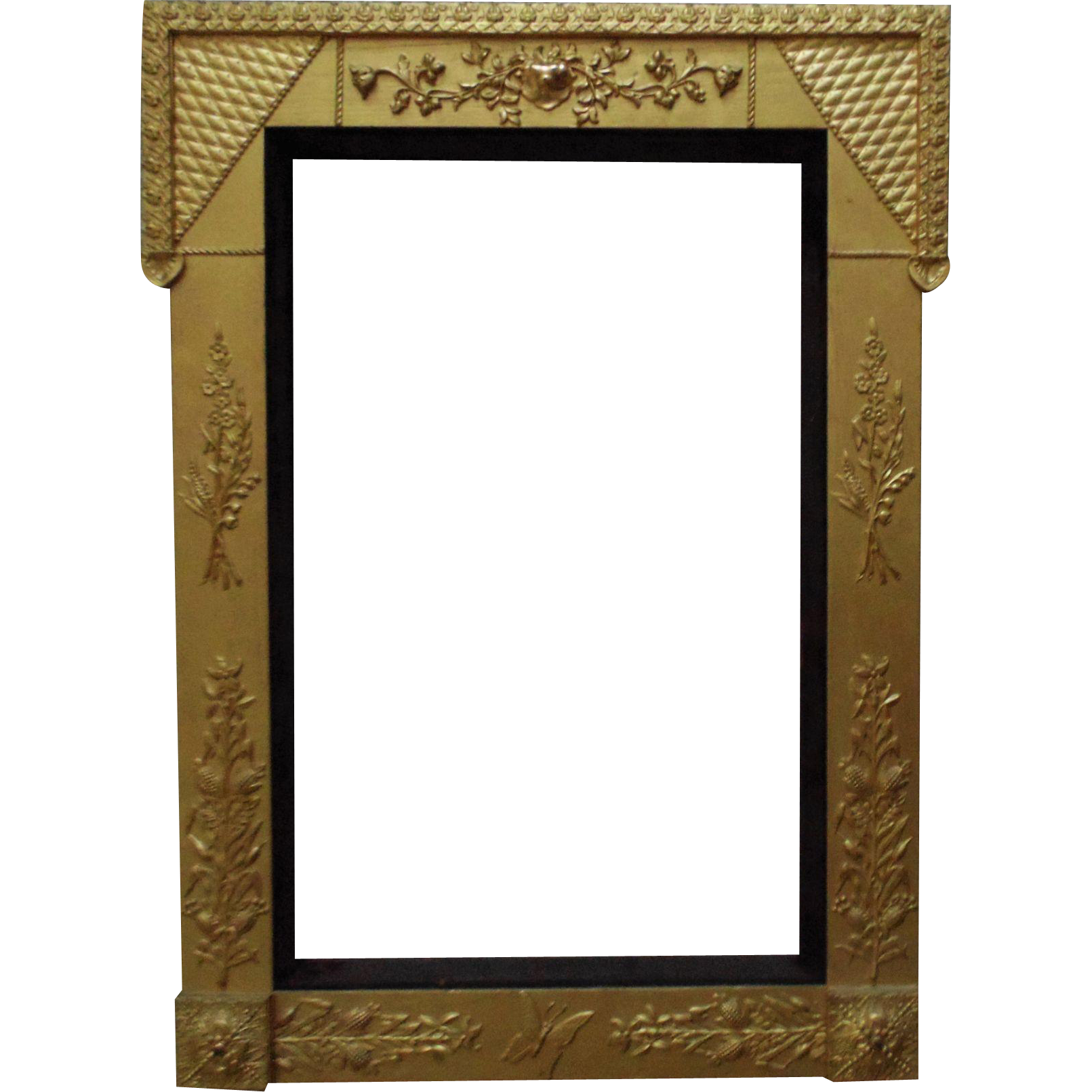 Large 19c Victorian Picture Frame Gilt Wood Amp Gesso