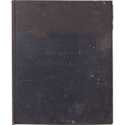 The Growth of Industrial Art Antique Book Catalog c. 1892 Patents Farming Agriculture
