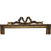 1 of 2 Antique Picture Frames Gilt Wood & Gesso French Victorian Ribbon & Bow for Painting Print Photograph