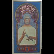 1971 Jesus Christ Superstar Advertising Poster Decca Records Original Vintage Framed Retro Pop Art Psychedelic Religious Byrd