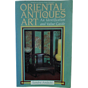 Oriental Antiques Art Book Identification & Value Guide Andacht Asian Chinese Japanese