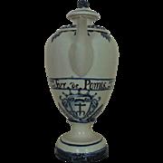 Antique 18c Deflt Pottery Pharmacopeia Pot Blue & White Faience Majolica Dutch Holland Primitive Pharmaceutical Pharmacy Elixor