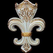 Antique French Sevres Vase Fleur de Lis Gilt Porcelain France