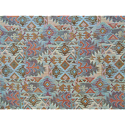 "Upholstery Strength Fabric Southwestern Native American Indian Motif New Mexico 64"" x 54"""