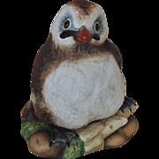Vintage Boehm Baby Puffin Bird Porcelain Figurine England