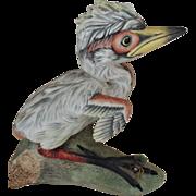 Vintage Boehm Baby Little Blue Heron Porcelain Figurine England