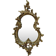 19c French Rococo Style Wall Mirror Gilt Wood & Gesso Antique Ornate Baroque Frame