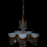 Miniature Brass Dollhouse Victorian Chandelier 5 Lights Light Fixture Doll House Electric