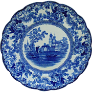 19c SET OF 6 Blue & White Transferware Dinner Plates Colonial Pottery Togo England English
