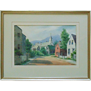Vintage Rockport New Hampshire Watercolor Painting Signed Edith Knowlton