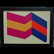 "BOLD Gerald Johnson Serigraph Modern Abstract ""Three Stripe Prototype"" Signed"