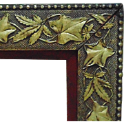 19c Victorian Gilt Wood & Gesso Picture Frame w/ Ivy & Leaves Aesthetic Eastlake Antique For Painting Print or Mirror