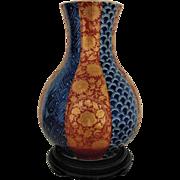 Fine Antique Chinese Japanese Imari Vase Signed Asian Oriental