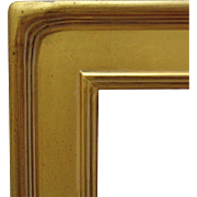 "Vintage Arts & Crafts Style Picture Frame Gilt Lemon Gold Wood 20"" x 24"" Opening Mission Bungalow for Painting Print Mirror"