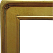 "Vintage Arts & Crafts Style Picture Frame Gilt Lemon Gold Wood 30"" x 24"" Opening Mission Bungalow for Painting Print Mirror"