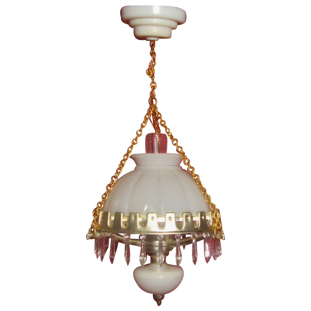 Miniature dollhouse hanging lamp chandelier oil kerosene for Doll house lighting