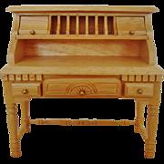 Miniature Dollhouse Desk Furniture Wood Doll House