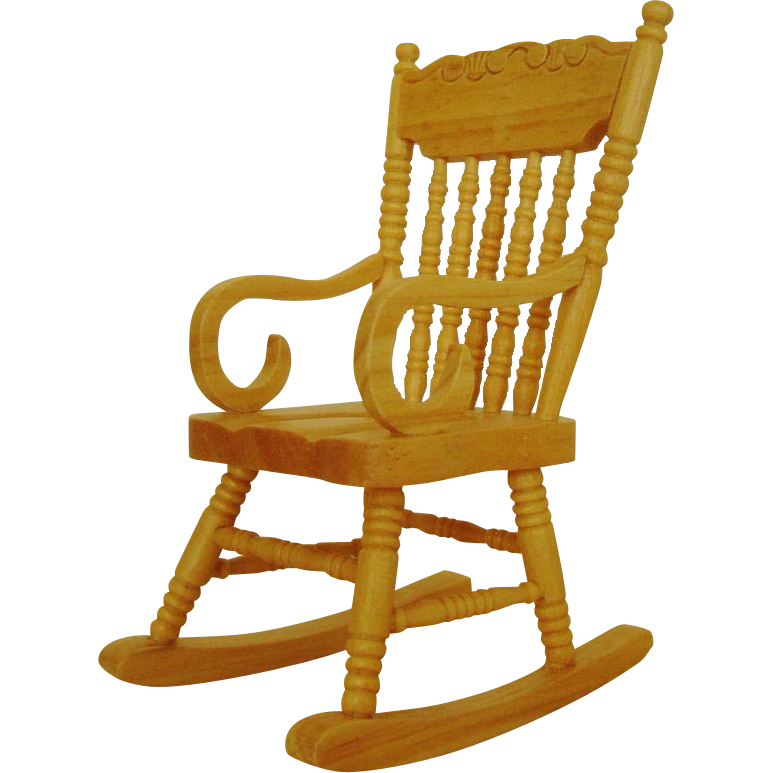 Miniature Rocking Chair Dollhouse Wood Furniture Rocker Doll House : Coyote  Moon Antiques   Ruby Lane