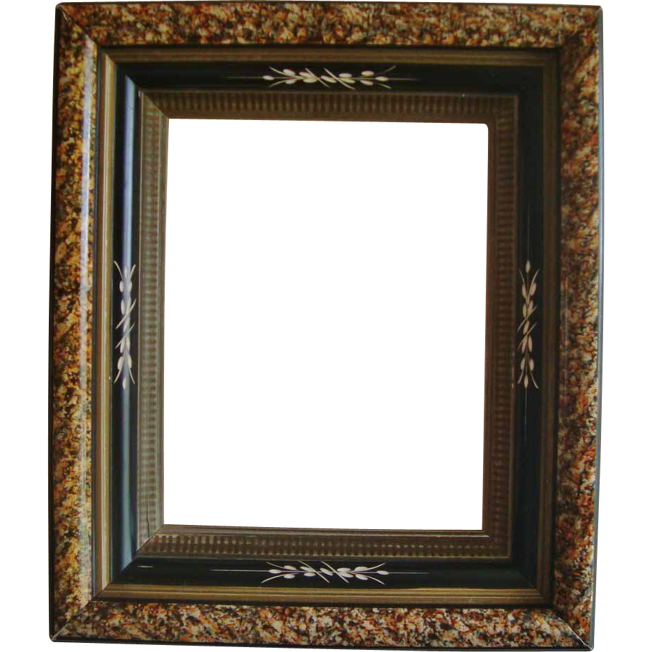 Antique Wood Picture Frame 19c Victorian Eastlake Aesthetic Ebonized ...