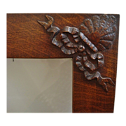 Antique Wood Picture Frame Victorian Arts & Crafts Mission Bungalow Oak for Painting Print Photograph