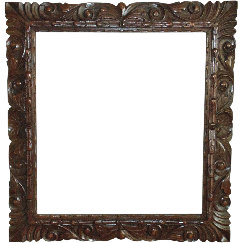 Wood Picture Frame Mid Century Modern Hand-Carved for Painting SOLD ...