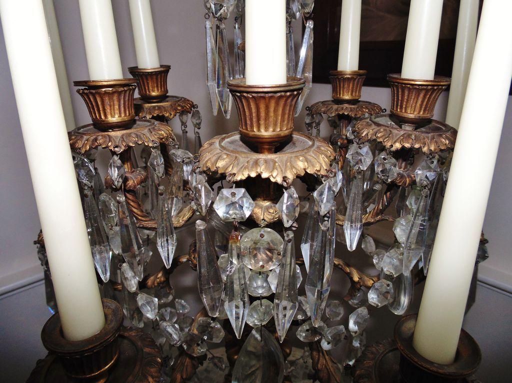 Antique French Bronze Candelabra Candelabrum Stunning