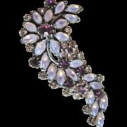 1940s Vintage Rhinestone Pin Brooch Costume Jewelry