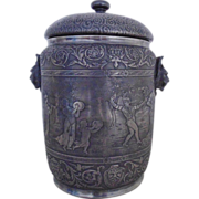 Reed & Barton Silver Biscuit Jar Canister Richard Briggs Co. #270 Antique 19c Victorian Wedding Marriage or Ice Bucket