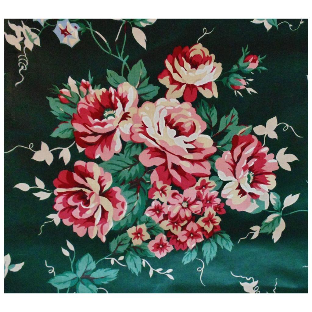 8 Yards Chintz Fabric Waverly Rose Garden Flowers Floral