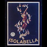 1910 Poster Isolabella & Figlio Advertising Milano Harlequin Liquer Liquor Barware French Print Italian Artist Repro