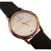 Vintage Jules Jurgensen Men's gold face watch