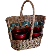 20th Century English basket for tools &  gathering garden