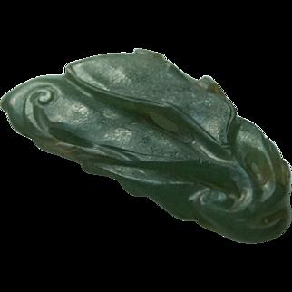 Antique Chinese Jadeite Jade Pendant