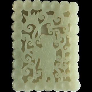 Antique Chinese Jade Flat Pendant I