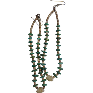 turquoise jacla earrings